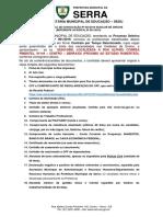 Errata Do Edital de Convocação Nº 024- 2019 - Auxiliar de Creche
