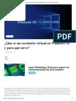 ¿Qué Es Un Escritorio Virtual en Windows 10 y Para Qué Sirve_ - SoyTecno