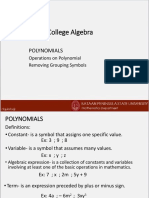 1Polynomialsand Rational Expressions