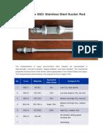 00Cr Stainless Steel Sucker Rod