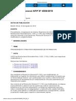 Rg 4550-19 Procedimiento. Actualización de Montos. Regímenes de Información