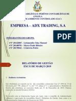 Ocpca-Apresentação Relatório de Gestão 2018 (Adx Trading, s.a) Vf-ltm