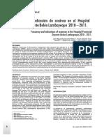 Frecuencia e Indicacion de Cesarea en El Hospital Provincial Docente Belen Lambayeque 2010 -2011