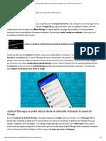 Android Messages Para PC Estará Vinculado a La Cuenta de Nuestro Móvil