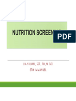 3. Nutrition Screening