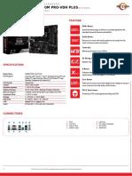 Msi b450m Pro Vdh Plus Datasheet