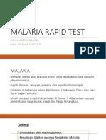 MALARIA RAPID TEST