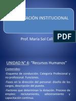 Alimentación Institucional - Unidad N 4 Rec. Humanos