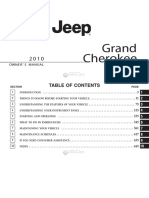 Jeep Grand Cherokee - 2010 Owners Manual