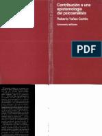 Contribucion a Una Epistemologia Del Psicoanalisis Roberto Yañez Cortes Amorrortu Editores