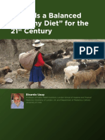 Towards a Balanced Healthy Diet for the 21st Century