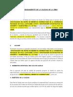 Plan de Aseguramiento de La Calidad de La Obra(Ejemplo)