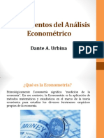 Fundamentos Del Análisis Econométrico 1