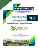 ICSDEE19 Proceedings