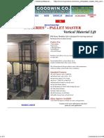 Modular Vertical Lifts, Mezzanine Lift, Custom Industrial Material Lift, Pallet Master, VRC