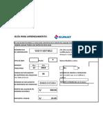 Plantilla Excel Guía Arrendamiento