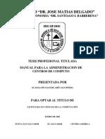 Manual para administrar centro de computo