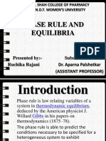 Phase Rule and Equilibria