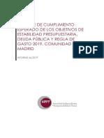 Informe Airef sobre la Comunidad de Madrid