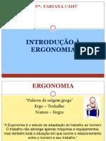 FISIO TRAB -Aula 1- Introdução a Ergonomia