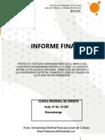 Clinica Regional de Oriente Informe Final Hidrosanitario