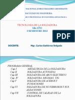 TECNOLOGIA DE LA SOLDADURA SESION 1 2013-I.ppt