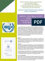 5 Abril 2013 Dialogo Agua y Energia Programa