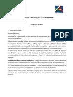 Manual Bolsista Brafitec 2017