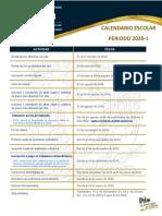 Calendario de actividades FES Acatlan