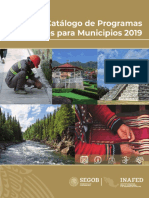 Catalogo Programas Federales 2019