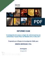 Informe ICAM Corte de Pernos Toyota Hilux 4x4 DX 2.4