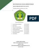 Laporan Praktikum Teknologi Analisa Kromatografi Kertas Penyusun Tinta Kelompok 1