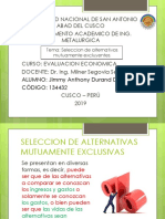 SELECCION DE ALTERNATIVAS MUTUAMENTE EXCLUYENTES.pptx