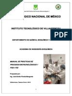Manual de Practicas de Procesos Biotecnologicos i Certificación
