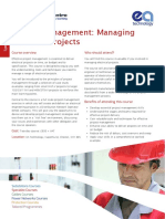 EA PSC Project Management Course Leaflet PSC022CL