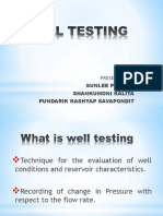 What is Well Testing