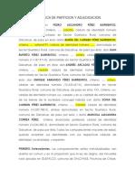Liquidación y Adjudicación PÉREZ-BARRIENTOS