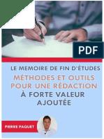 Le Memoire de Fin d Etudes Me Pierre Paquet
