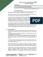 Pathology Transport Procedures BHR 4543