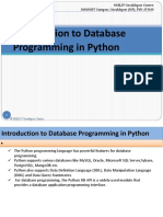 Introduction to Database Programming in Python