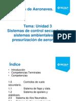 PPT Clase 10 Sist. de Controles y Sistemas Ambientales y de Presurización de Aeronaves
