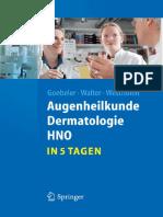 [Sp.] Goebeler u.a.,Augenheilkunde, Dermatologie, HNO in 5 Tagen (2011) Копия