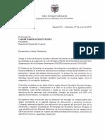 Carta de Duque a Vázquez