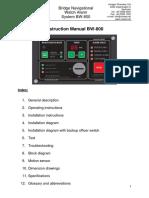 BW-800 Instruction Manual