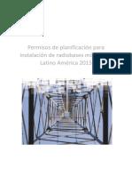 Permisos de planificación para instalación de radio bases en latinoamericana