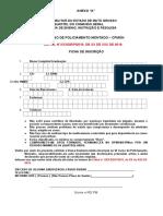 VI CPMON - Ficha de Inscrição