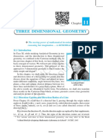 11. Three Dimensional Geometry