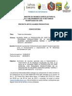 Terminos de Referencia Para Segunda Fertilizacion Tierra y Cafe