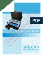 Model WE20 Manual