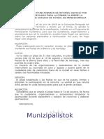 Alegación Por Plazo Inadecuado Para La Consulta Sobre La Ampliación de Estadio de Fútbol de Mendizorroza